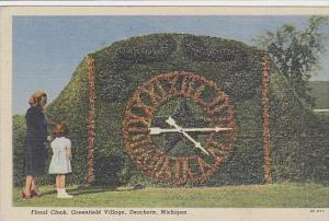 Michigan Dearborn Floral Clock Greenfield Village