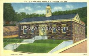 US Post Office Boone NC Unused