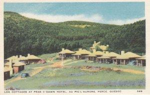 PERCE , Quebec , Canada , 1930s ; Log Cottages , Peak O'Dawn Hotel
