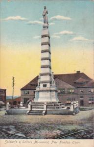 Soldier's & Sailors Monument,  New London,   Connecticut,  PU_1909