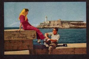CUBA Morro Castle Havana Habana Pan American World Airways Postcard