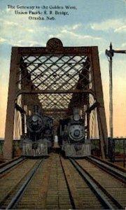 Union Pacific R.R. Bridge, Omaha, Nebraska, NE, USA Railroad Train Depot Unus...