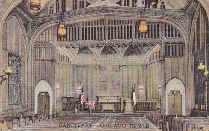Illinois Chicago The Chicago Temple Sanctuary Curteich