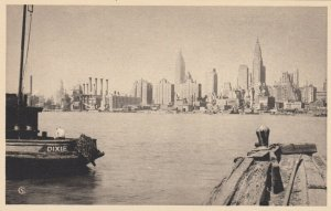 NEW YORK CITY, 1930s; Mid-Manhattan from under Queensborough Bridge