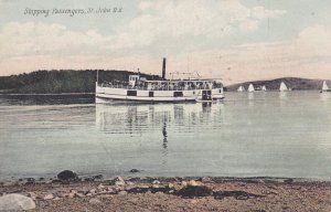 ST. JOHN, New Brunswick, Canada, 1900-10s; Steamer Shipping Passengers