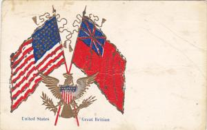 Flags Of United States and Great Britain 1906