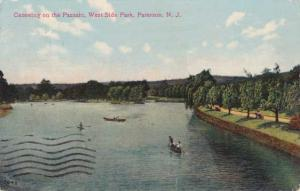 Canoe on the Passaic River West Side Park Paterson NJ New Jersey - pm 1908 - DB
