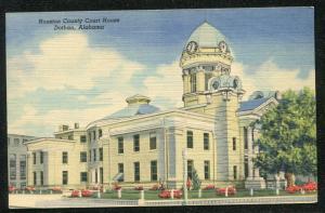 Dothan Alabama al Houston County Court House linen postcard