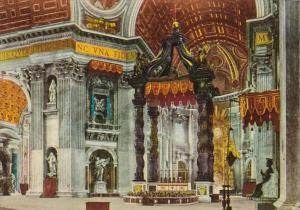 Italy Roma Rome St Peter's Basilica Interior