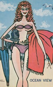 Bikini Pinup Comic ; 1950-60s : OCEAN VIEW