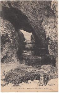 France, BELLE-ILE, Entree de la Grotte du Talud, unused Postcard