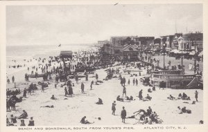 New Jersey Atlantic City Beach & Boardwalk South From Youngs PierAlbertype s1743