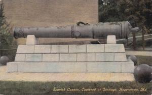 HAGERSTOWN, Maryland, 1900-1910s; Spanish Cannon, Captured At Santiago
