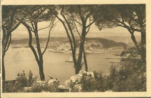 Nice, Vue entre les Pins, 1934 used Postcard