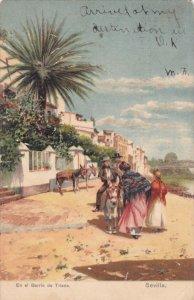 SEVILLA, Andalucia, Spain; En el Barrio de Triana, PU-1907
