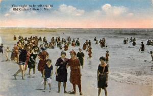 You Ought to be With Us at Old Orchard Beach Maine~Vintage Bathing Beauties~PC