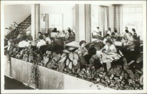Gibsonia PA Eden Hall Lodge Dining Room Real Photo Postcard