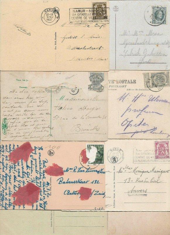 Belgium - Namur Postcards Lot of 12 Printed  01.02