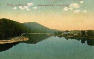 PA - Tunkhannock. Susquehanna River looking West