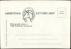letter card The Ranch Broadstairs UK
