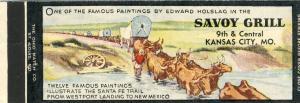 Classic Kansas City, Missouri/MO Matchcover, Savoy Grill