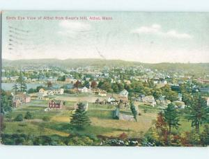 Divided-Back POSTCARD FROM Athol Massachusetts MA HM7402