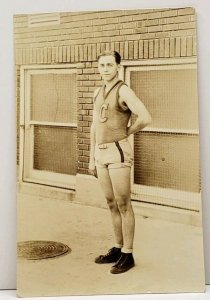 Lexington Kentucky 1926 Henry Clay HS Basketball Earl Wilson RPPC Postcard J5