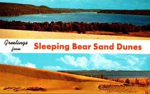 Michigan Leelanau Greetings From Sleeping Bear Sand Dunes