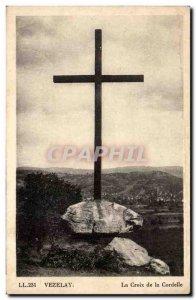 Vezelay Old Postcard The cross Cordelle