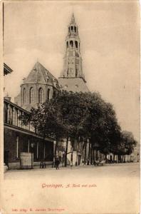 CPA GRONINGEN A. Kerk met plein NETHERLANDS (604156)