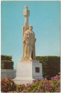 Cabrillo Statue, National Monument, San Diego, California, 1959 used Postcard