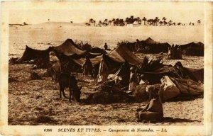 CPA AK Campement de Nomades ALGERIE (874681)