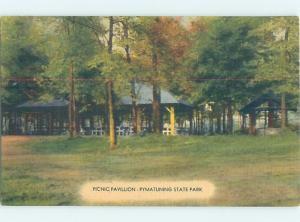 Linen PICNIC PAVILION Pymatuning - Linesville & Jamestown Pennsylvania PA H2248