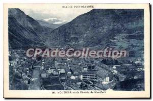 Postcard Old Moutiers Vu du Chemin de Montfort
