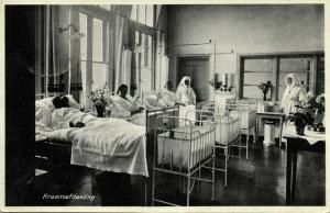 netherlands, ZWOLLE, R.K. Ziekenhuis, Hospital, Maternity Ward (1935) Postcard