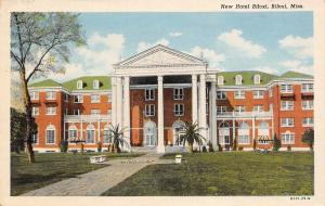 New Hotel Biloxi Mississippi~Planters & Pillared Portico Palm Trees~Postcard 192