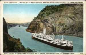 Panama Canal Pacific Steamship Nav Co SS Oroya c1920 Postcard