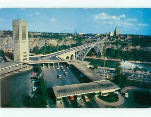 Vintage Post Card JPS-18 Carillon Tower Rainbow Bridge Niagra Fal Canada  # 3880