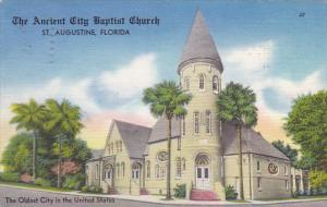 Florida St Augustine Ancient City Baptist Church 1967
