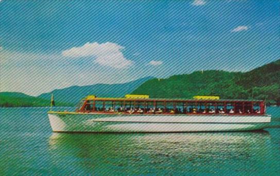Sightseeing Boat The Doris On Lake Placid In The Adirondacks New York