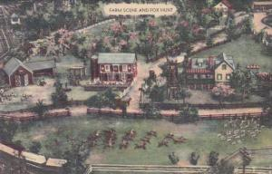 Pennsylvania Hamburg Farm Scene and Fox Hunt Gieringer's Miniature Village 1948