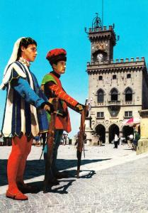 Balestrieri Pavicart San Marino Local Fashion Costume Dress Rare 1970s Postcard