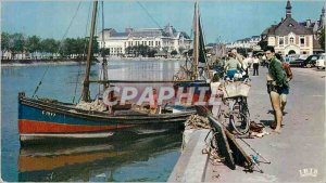 Modern Postcard Deauville Trouville Le Bassin des Yachts and the Casino of Tr...