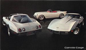 1978 Chevrolet Corvette Sport Coupe Original Advertising Postcard