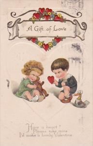 Valentine's Day Young Children With Toys 1925