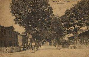 poland germany, KREUZ OSTBAHN, Krzyż Wielkopolski, Bahnstrasse (1915) Pomerania