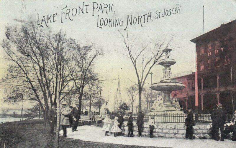 SAINT JOSEPH , Michigan , 1909 ; Lake Front Park, Looking north