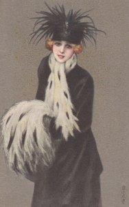 Art Deco ; COLOMBO , Female Elegant Fashion Portrait #7 , 1910-20s