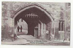 UK Tower of London Bloody Tower Gateway Vintage Gale & Polden Postcard