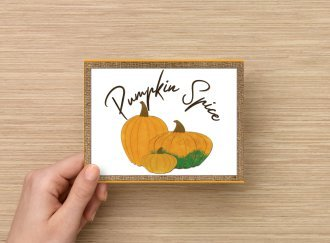 Set of 6 Fine Art Postcard Pumpkin Spice, Celebrating Autumn, Fall Greetings
